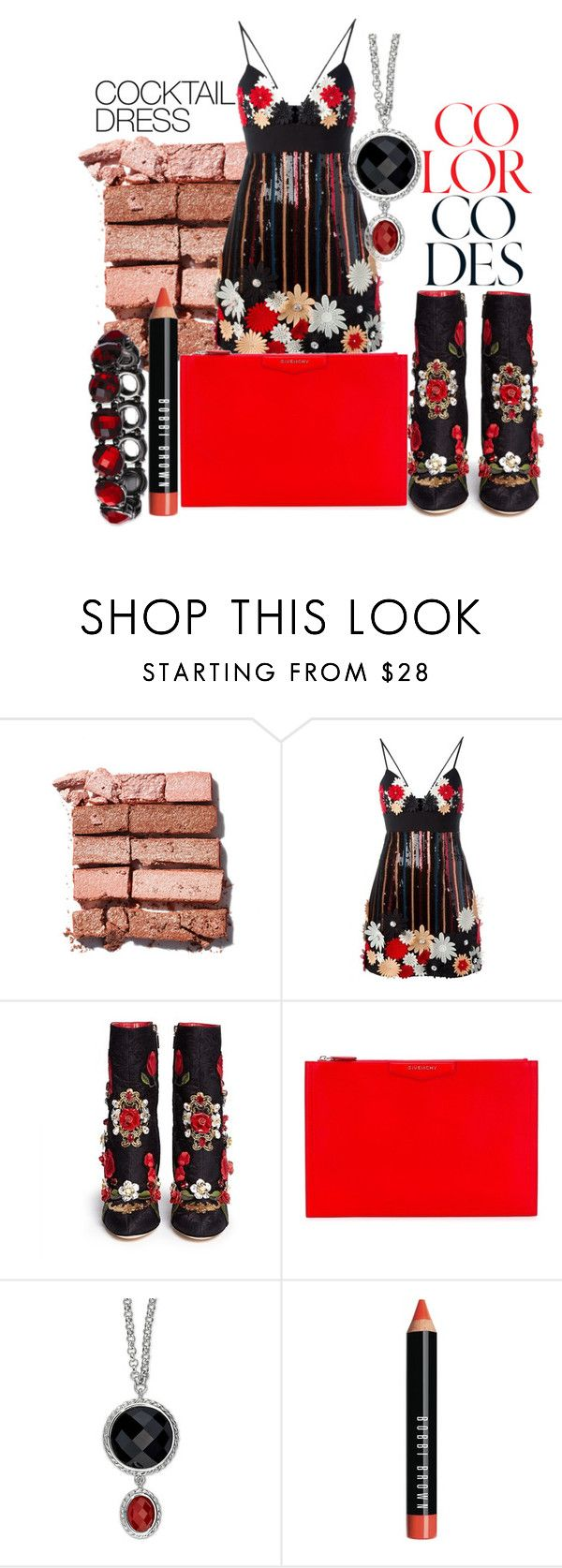 """Sem título #490"" by natalia-maida ❤ liked on Polyvore featuring Bobbi Brown Cosmetics, Emanuel Ungaro, Dolce&Gabbana, Givenchy and cocktaildress"