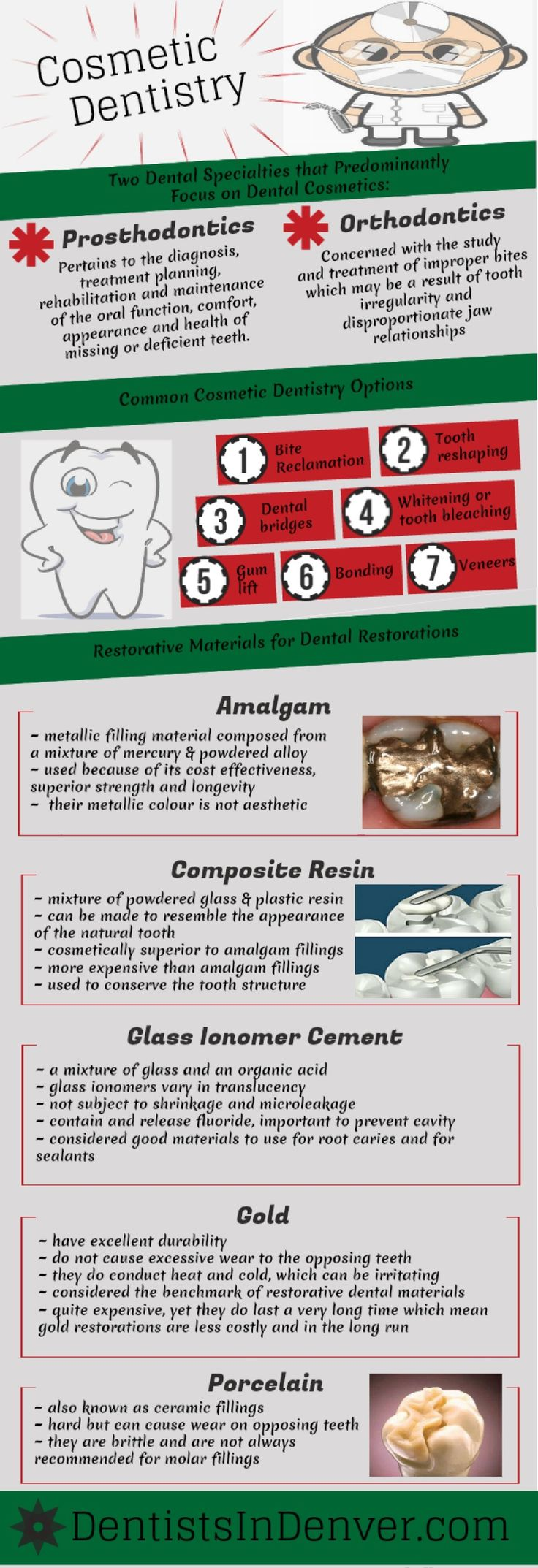 Cosmetic Dentistry Infographics  by: http://www.dentistsindenver.com