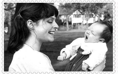 Sophie Ellis-Bextor as a baby with her mother, ex-Blue Peter presenter Janet Ellis