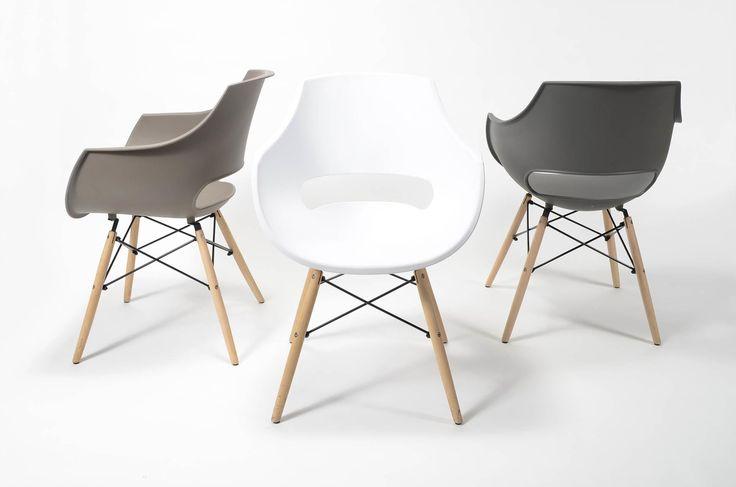 Stolička  Rozmery: 57x62cm  Výška: 81cm  Výška sedenia: 46cm  Material sedenie: Polypropylene  Material nohy: Drevo svetlé + čierny kov  Stoličky  Jedálenská stolička má významné miesto pri vytváraní at