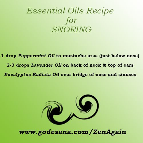 Signs That Prove Your Partner Is a Habitual Snorer Essential oils needed to make recipe for SNORING!