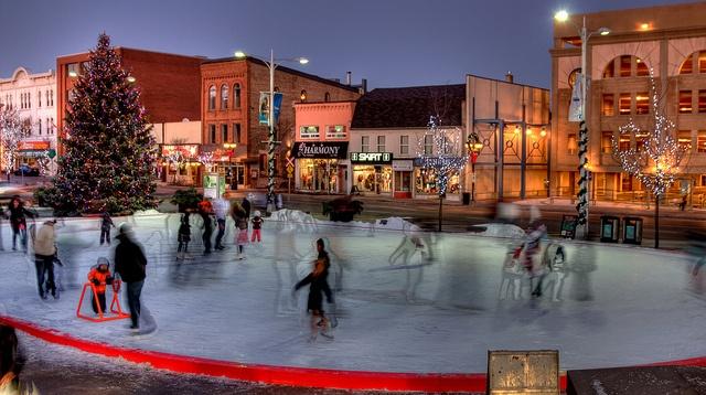 skating under the Moon and the Christmas Tree @Debbie Arruda Johnston Uptown by niikos, via Flickr