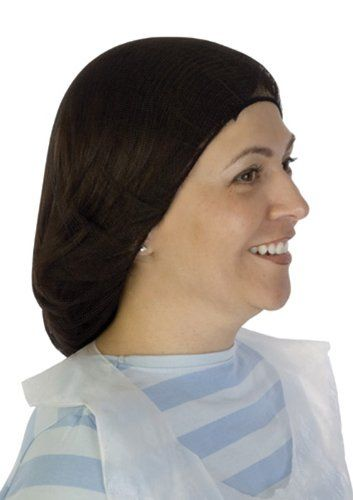 """Liberty A1918 Soft Nylon Hairnet with 1/8"""" Honeycomb Pattern Holes, 18"""" Diameter, Black (Case of 1000). 18 inches diameter. It offers latex free elastic headbands for secure and comfortable fit. Black color. Comes with 1/8-inch honeycomb pattern holes. Liberty 100 percent soft nylon hairnet. Soft nylon hairnet."""