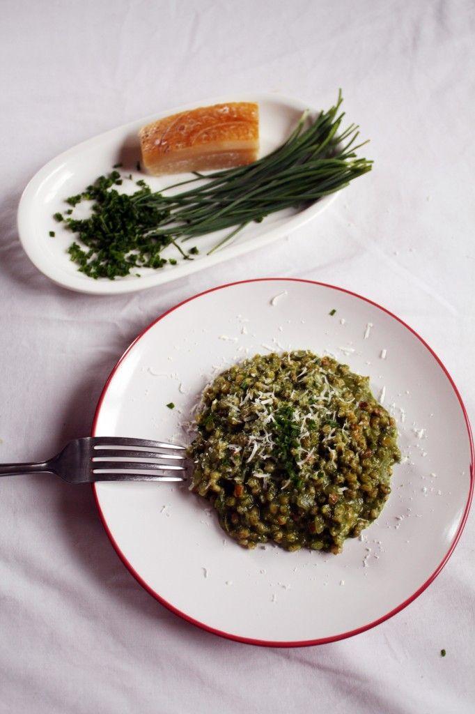 risotto de cebada y espinaca // toasted barley and spinach pure risotto
