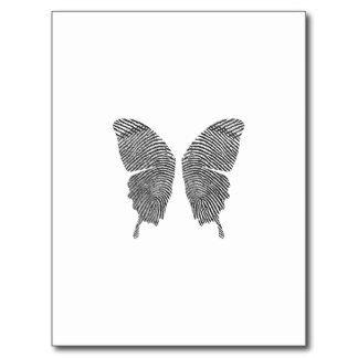 Butterfly fingerprint Tattoo