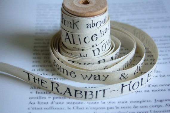 Story Book Cotton Tape, from Alice in Wonderland: Crafty Goodness, Ideas, Crafty Lovely, Alice In Wonderland, Fartsy Inspirations, Cotton Tape, Storybook Cotton
