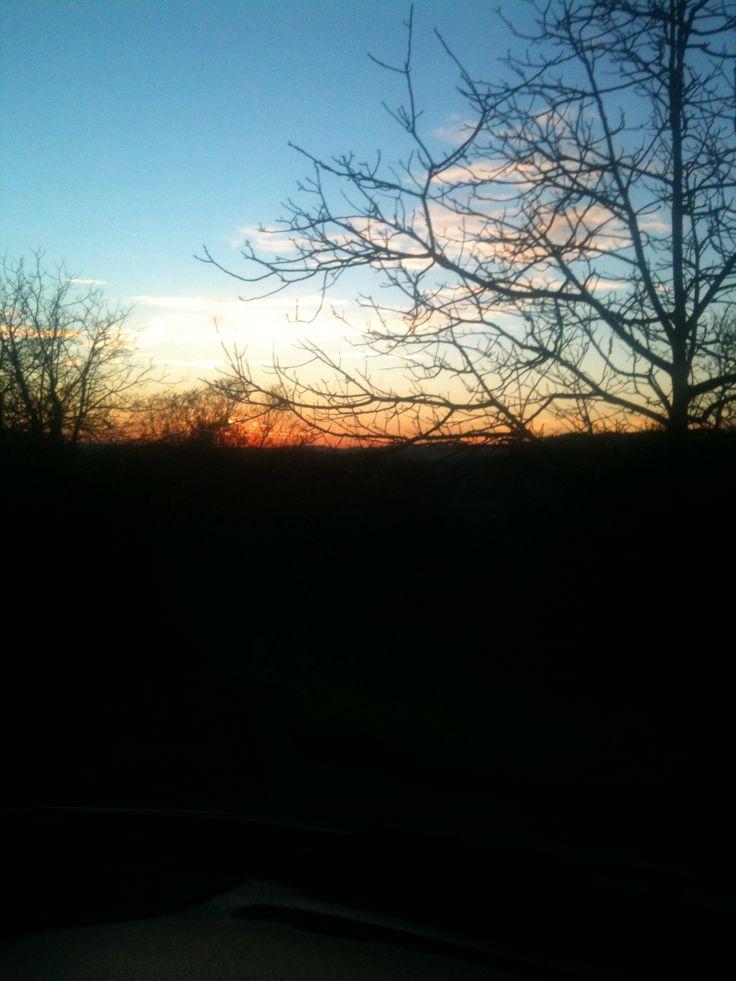 tramonto in inverno