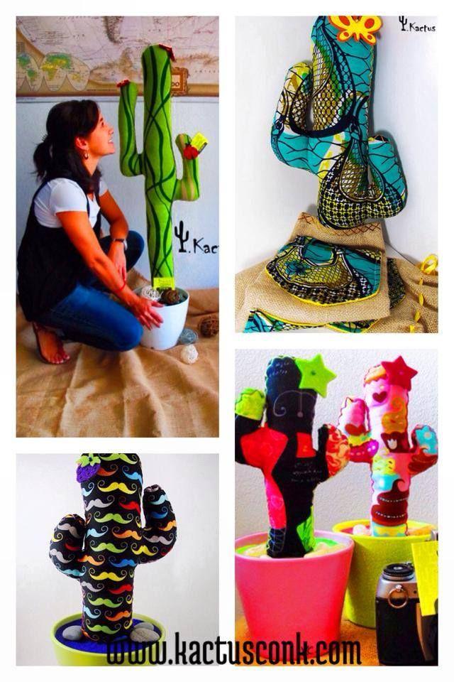 Tienes dudas para hacer un regalo original, único, artesanal e inmejorable? Pues piensa en Kactus con K, te ayudamos a escoger tu cactus de tela asesorándote en la tela, el diseño y el tamaño. Es un regalazo!!!