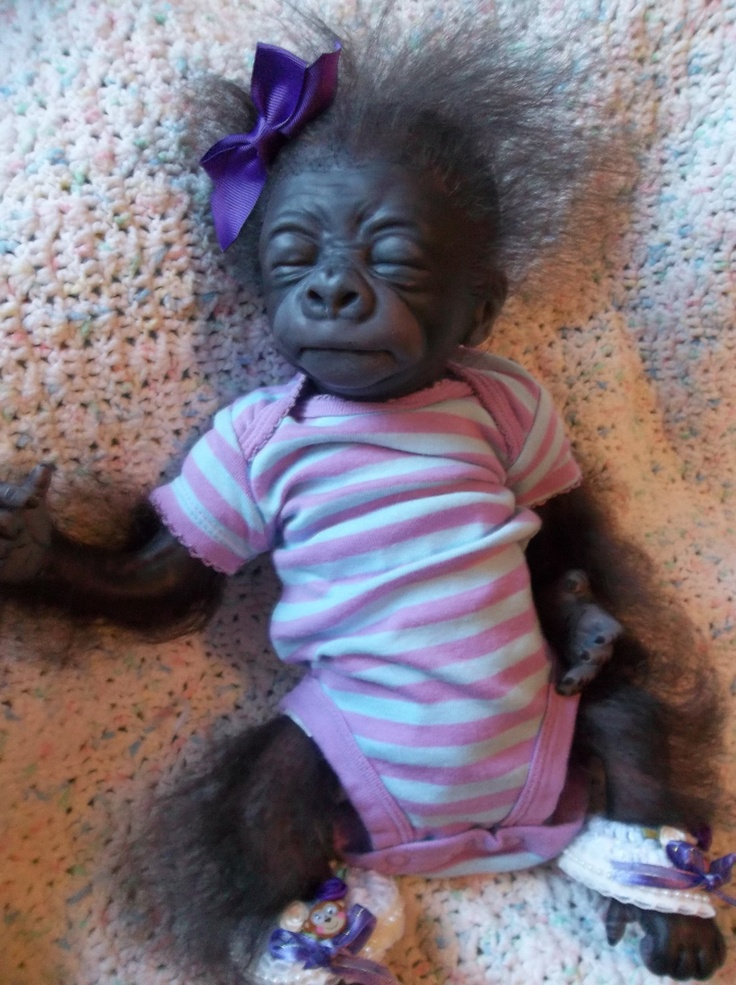 Custom Made To Order Monkey Doll Reborn Ape By