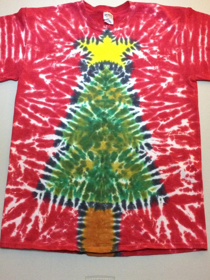 tie dye christmas tree - photo #21