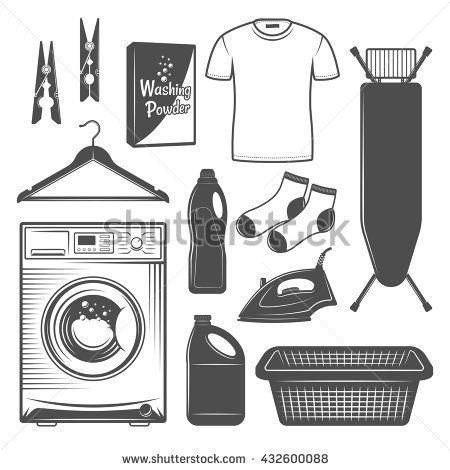 Resultado de imagen de ironing board clipart black and white