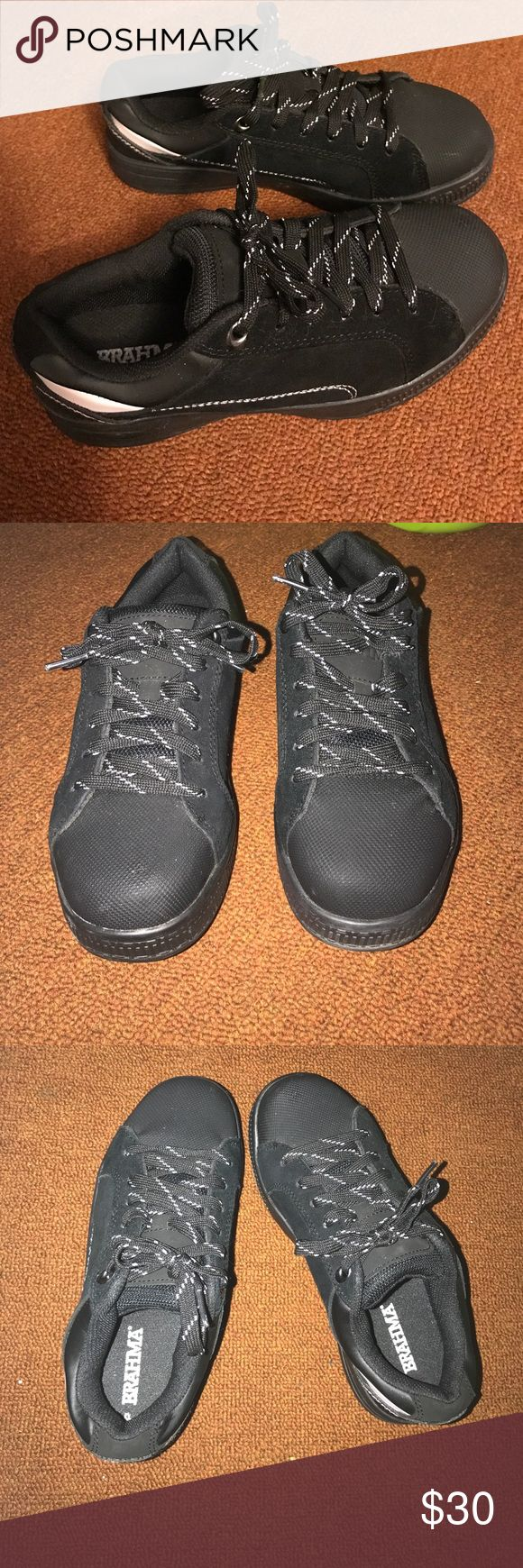 Brahma steel toe shoes An alternate to steel toe boots for skater type. Very comfortable. Size 6.5. Bought them for side job and only wore them once. Brahma Other