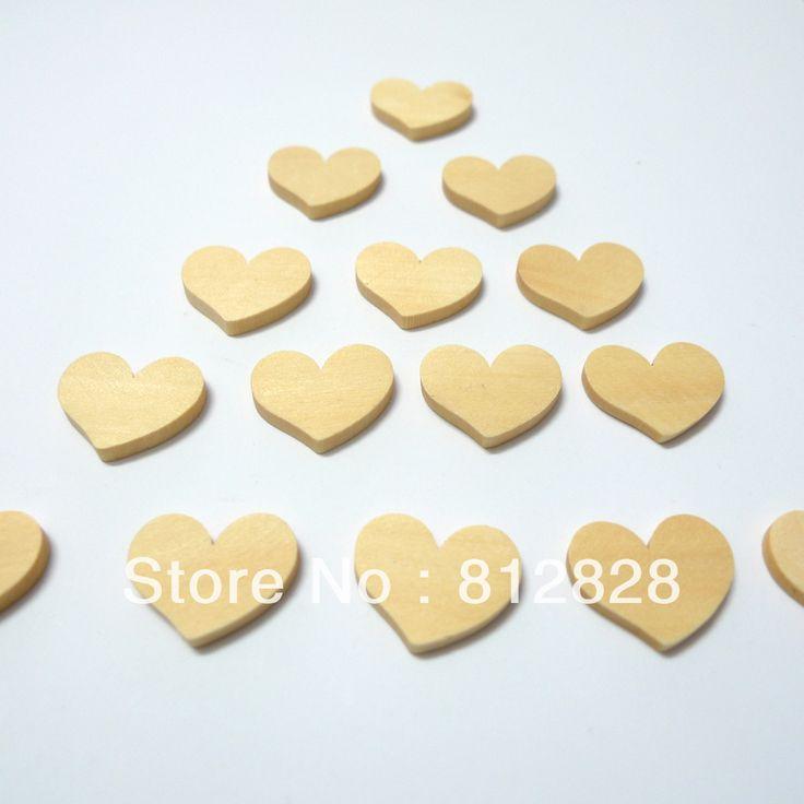 Gratis verzending 20 stuks harten hout ambachten, hout versieringen, houten ornamenten voor scrapbooking