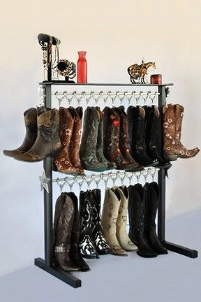For Cowboy Boot Lovinu0027 People, This Boot Rack Will Fit In A Closet And