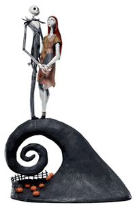 The Nightmare Before Christmas Jack and Sally Spiral Hill Action Figure