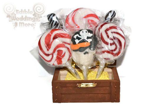 Lollipop Pirate Party Favor Pirate Birthday by EdibleWeddings, $8.99