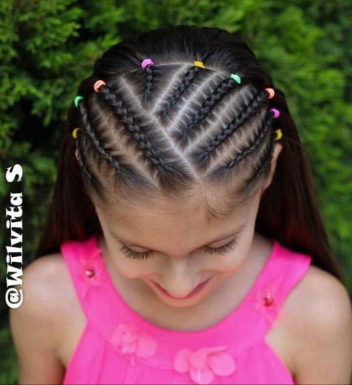 Pin By Evelyn Rabsatt On Trenzas Braided Hairstyles Little Girl Braid Hairstyles Kids Braided Hairstyles