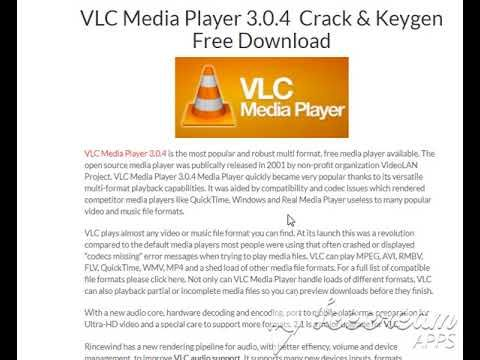 VLC Media Player 3 0 4 (32-bit) Crack & Keygen Free Download