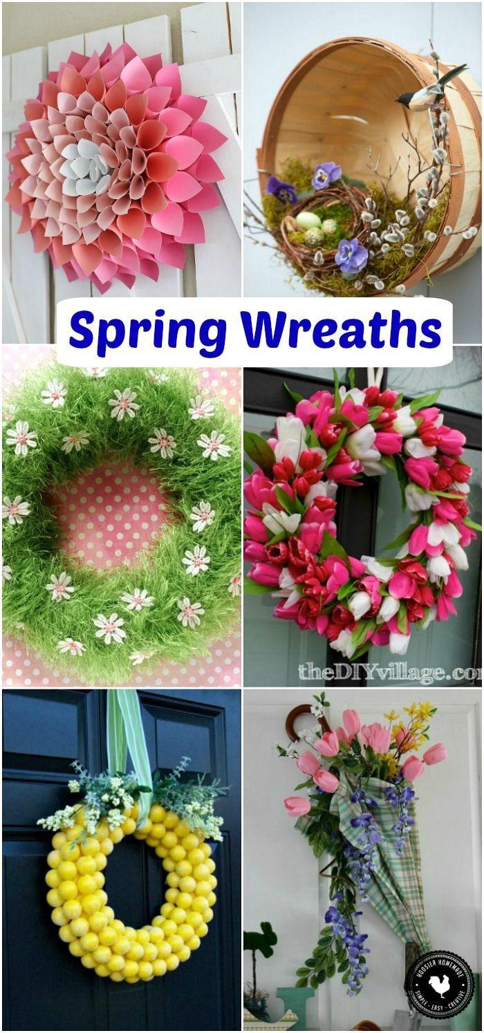 Spring Wreaths Spring Inspiration 71 best HOME