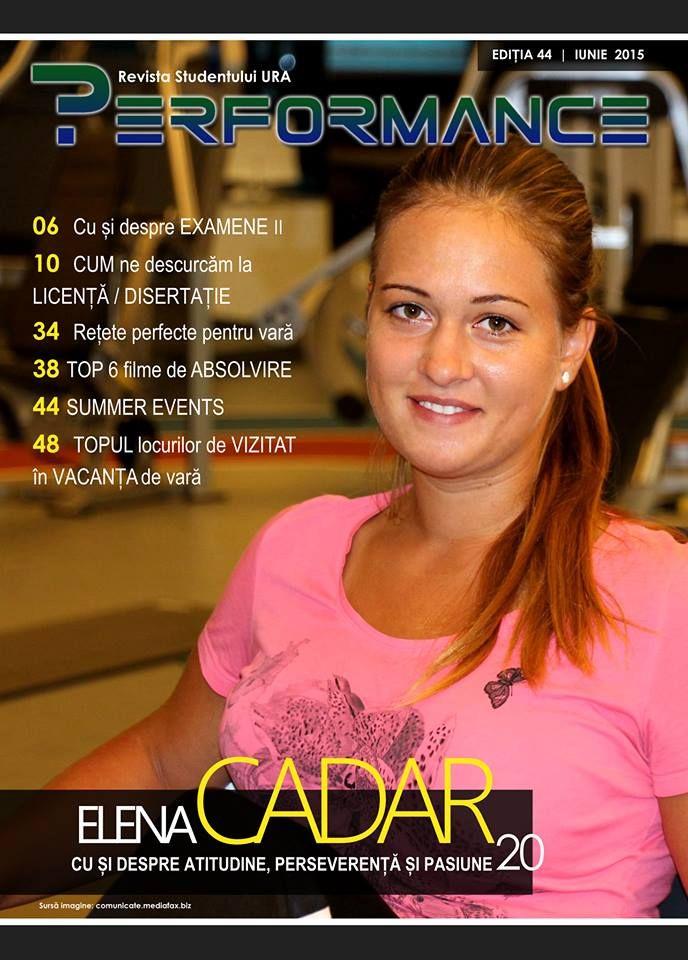 În această ediție te punem față în față cu ELENA CADAR, colega noastră de la ETII și o mare speranță a tenisului românesc într-un super interviu despre atitudine, perseverență și pasiune emoticon wink  Acces publicație: http://performance.rau.ro/?page_id=2983