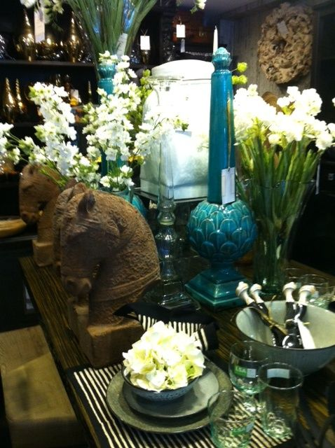 Silk flowers amidst our accessories and giftware