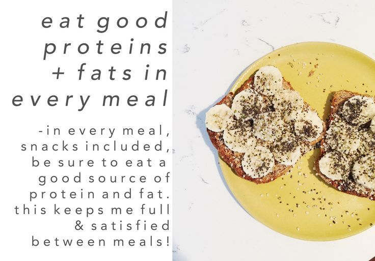 Lateleigh with Lee Alyssa Cates Healthy Eating: Eat good proteins and fats in every meal - in every meal, snacks included, be sure to eat a good source of protein and fat. this keeps me full and satisfied between meals!