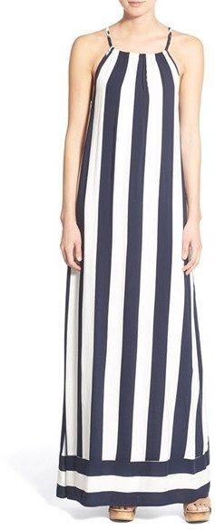 Splendid 'Capistan' Stripe Maxi Dress #navy #white #stripes #dress #maxi #nautical #fashion