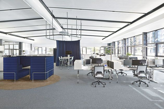 Room Dividers and Lounge space that  helps give structure to an open space.