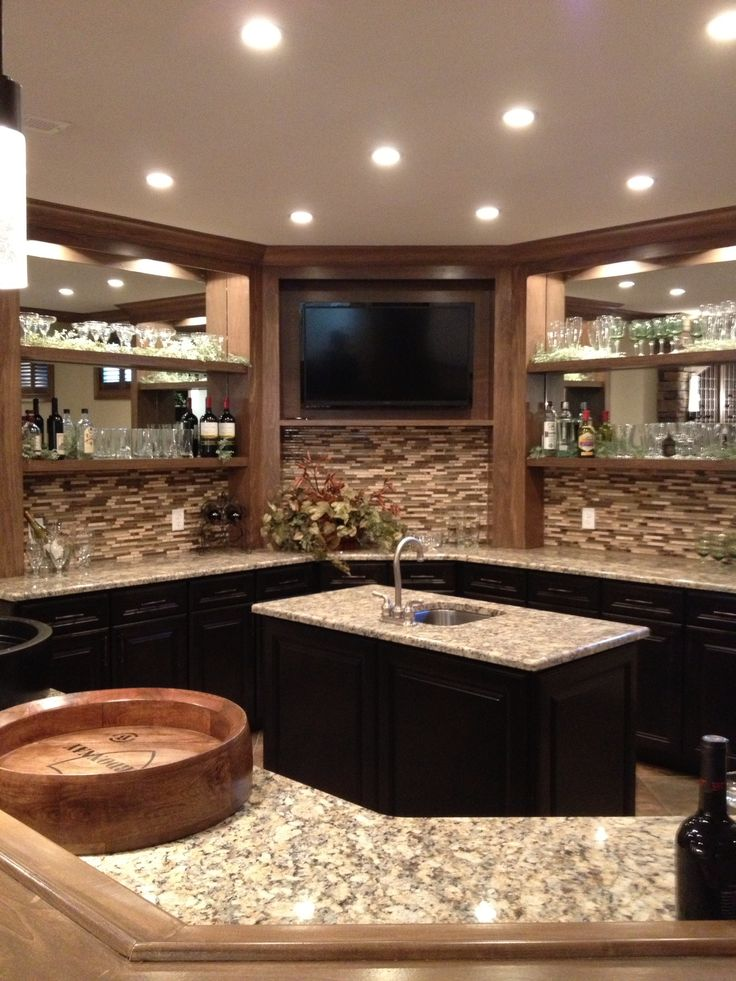 139 best images about basement ideas on pinterest media for Basement kitchen ideas pictures