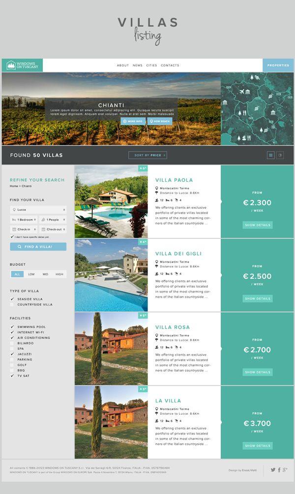 Windows on Tuscany Website redesign by Enzo Li Volti, via Behance