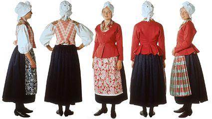 Kokkolan seudun naisen kansallispuku  Gamla Karlebynejdens kvinnofolkdräkt This is the traditional clothing from the region in Finland where my Great Grandparents came from, Kokkola/Gamla Karleby