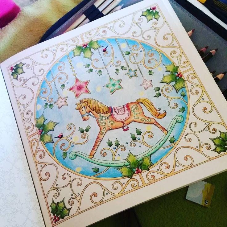 #johannaschristmas #johannabasford #color #coloringbookforadults ☆✔