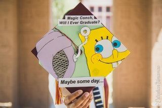 My Graduation was last month, but here's my Cap that I made! : spongebob