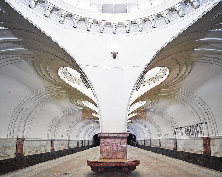 Sokol Metro Station, Moscow  moscow-metro-station-architecture-russia-bright-future-david-burdeny-3
