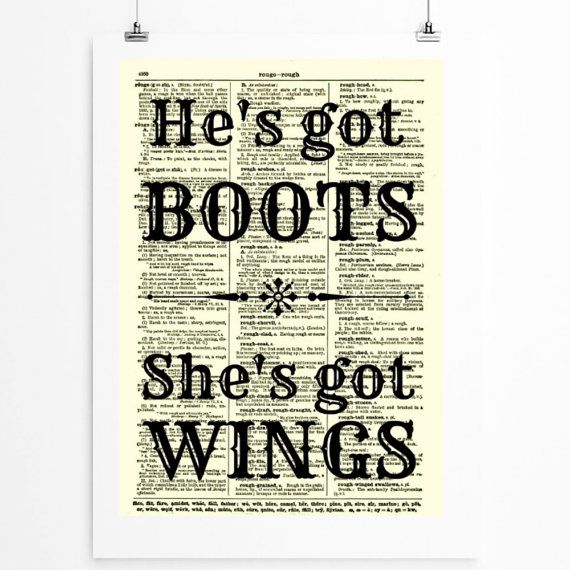 Hey, I found this really awesome Etsy listing at http://www.etsy.com/listing/159970995/hes-got-boots-shes-got-wings-cowboys-and