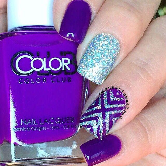 Purple and Holo✨ by the Queen @sensationails4u! ❤️ Right Angle #NailVinyls snailvinyls.com