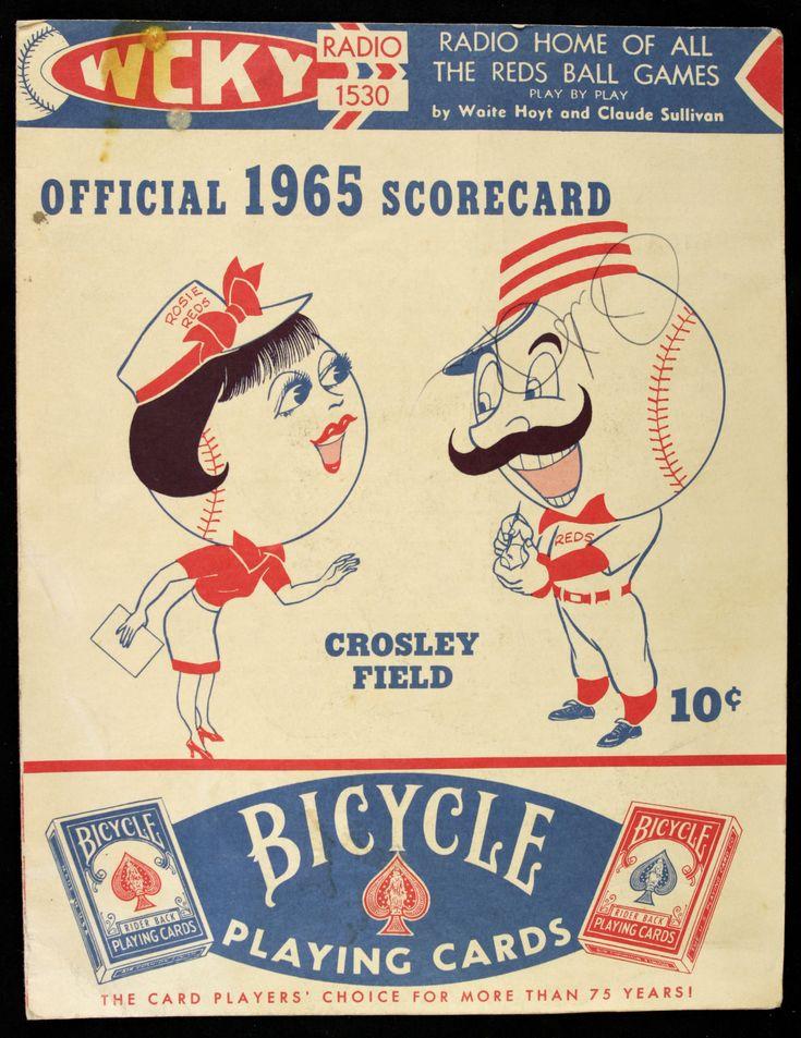 cincinnati reds 1965 images | Lot Detail - 1965 Cincinnati Reds Crosley Field Houston Astros ...