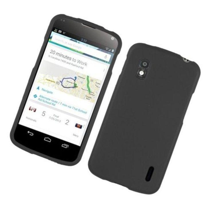 Insten Hard Snap-on Rubberized Matte Case Cover For LG Google Nexus 4 #2317502