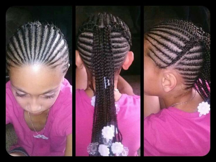 Super 1000 Images About Cute Protective Styles For Little Girls On Hairstyles For Women Draintrainus