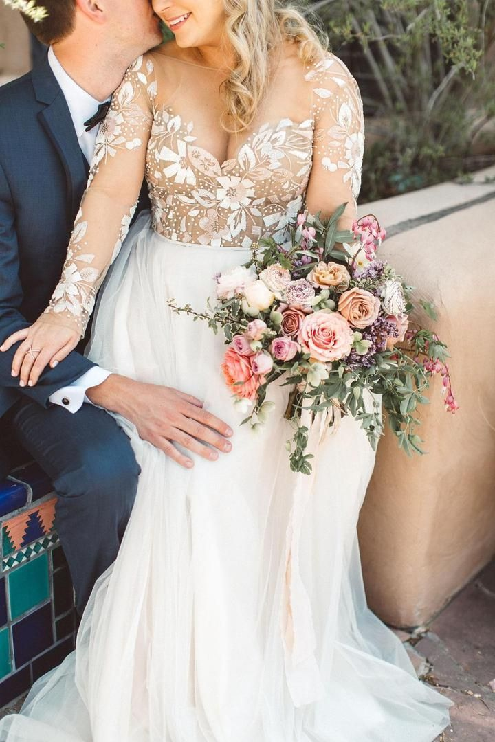 Charming Newest Beading Gorgeous Wedding Dress Long Sleeves