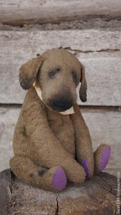 Мишки Тедди ручной работы: Садовый пёсик. Handmade.