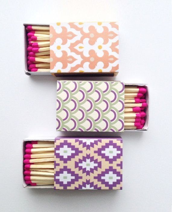 decorative matchbooks