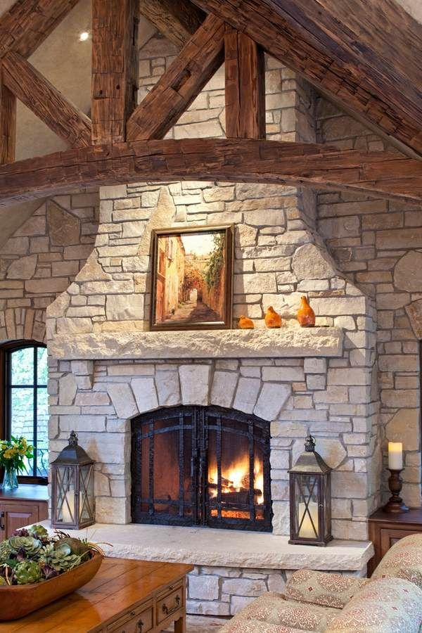stone fireplace ideas fireplace hearth stone slab wrought iron and glass doors