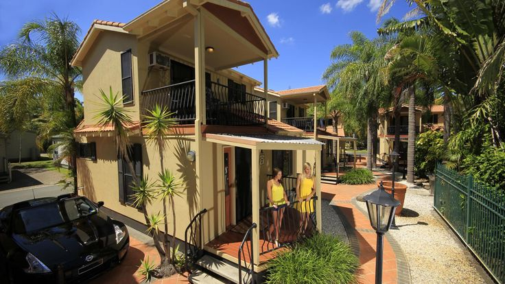 Ashmore Palms' Macaw Mansions are a popular cabin choice for families (features an upstairs parent's retreat overlooking the swimming lagoons).