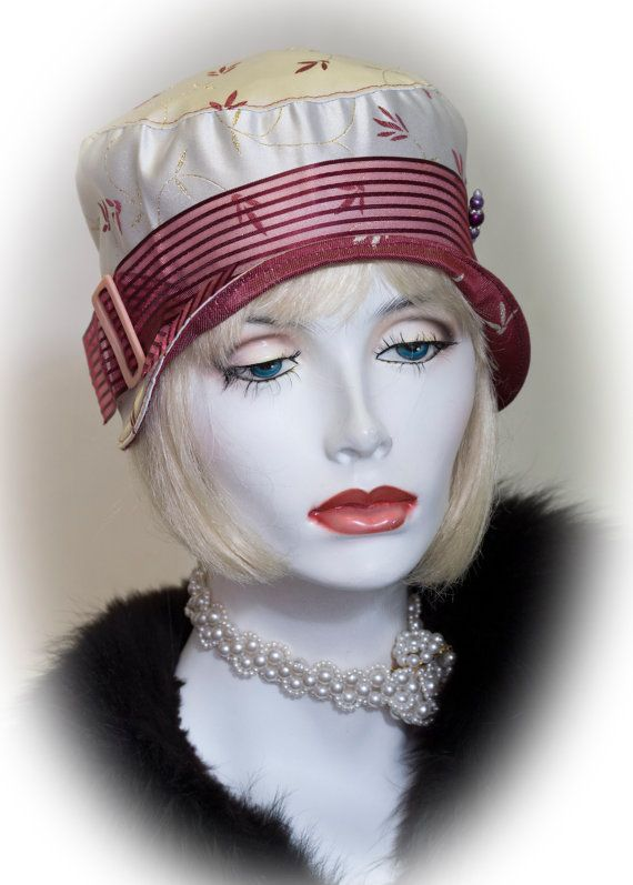 Vintage inspired cloche hat great gatsby by aileens4hats1920s style