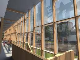vliesgevel - in een skeletconstructie een muur die van glas kan zijn omdat hij niets hoeft te dragen of te ondersteunen