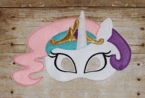 Princess Celestia My Little Pony Mask costume Pony mask MLP costume - girls dress up - party favor- birthday mask