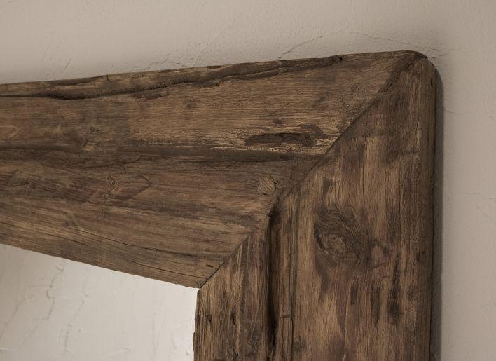 Originele oude houten spiegel small | Woonland