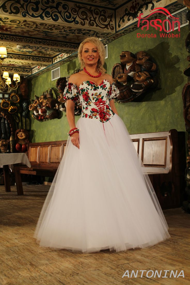 regional wedding dress, folk. regionalne suknie ślubne, podhalanka