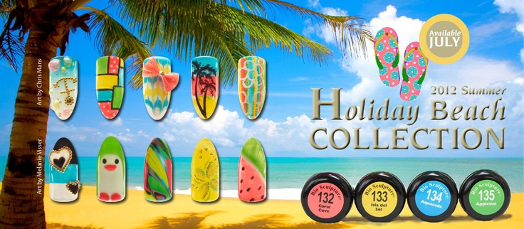 HOLIDAY BEACH COLLECTION: Summer-inspired colors.